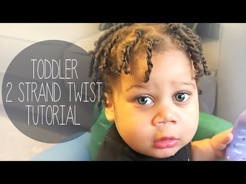 Toddler Hair Tutorial- 2 STRAND TWISTS