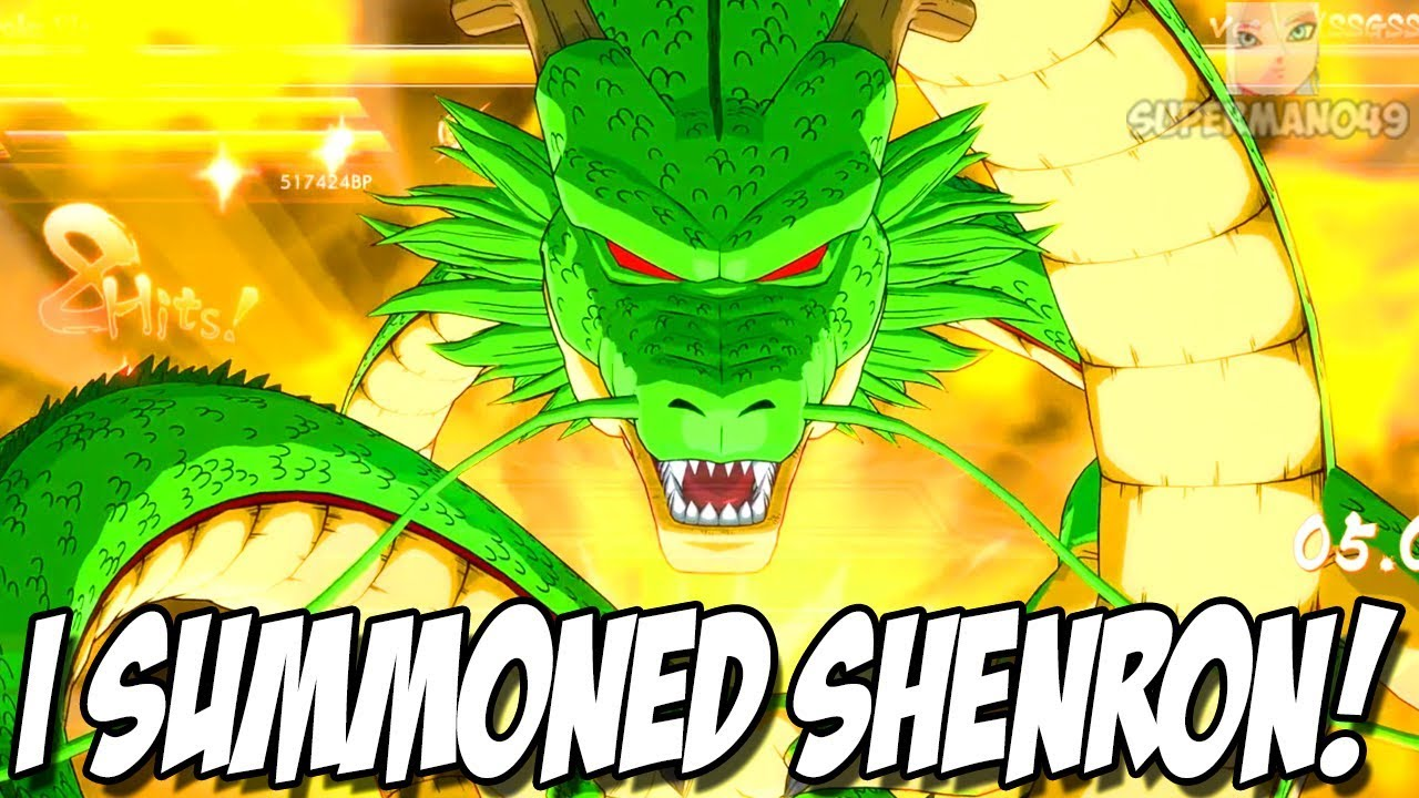 I Summoned Shenron Dragon Ball Fighterz Random Character Select Gameplay