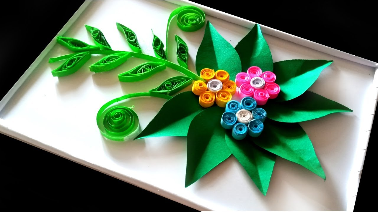 how to make artificial flower at home. / how to make quilling design flowers at home easy