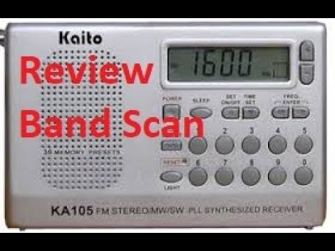 Kaito KA 105 Pocket AM FM SW Radio look see and band scan