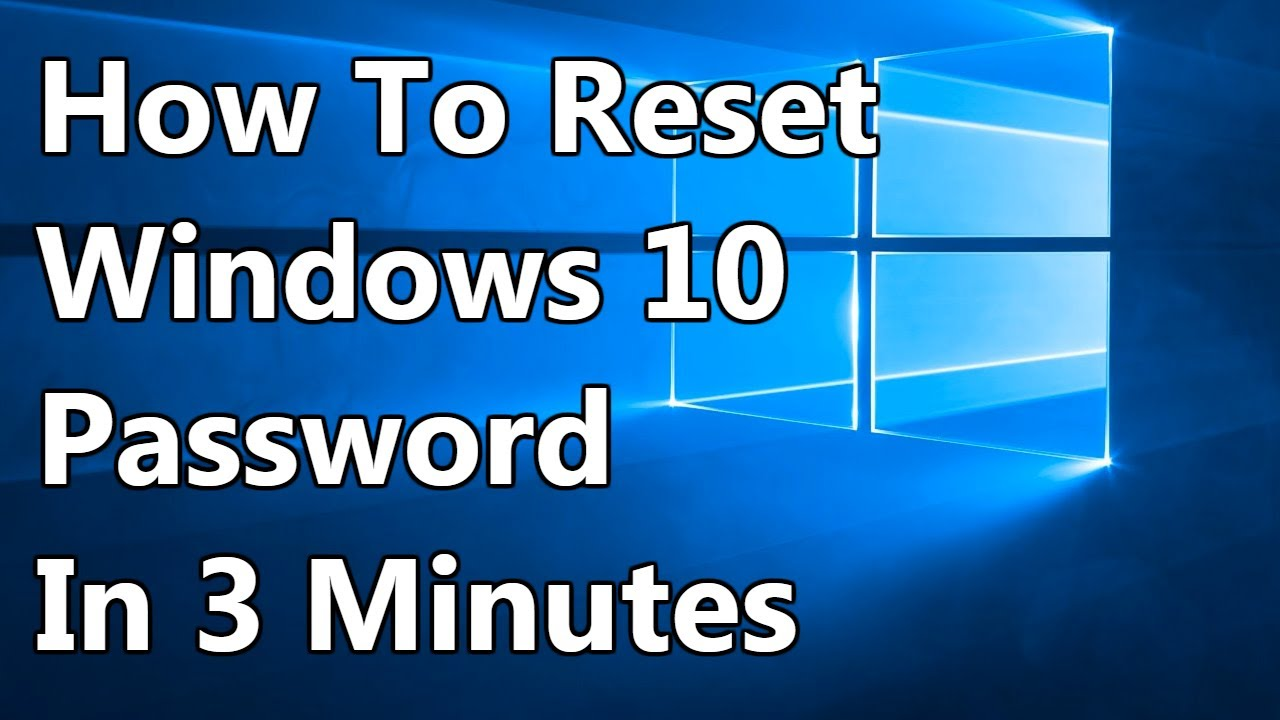 FIXED] Lost/Forgotten Password Windows 10 - YouTube