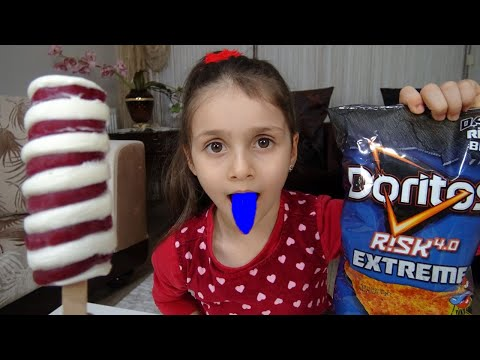 Twister Dondurma Ödüllü Doritos Risk 4.0 Challenge Lina Acıdan Ağladı | Funny Kids Video indir
