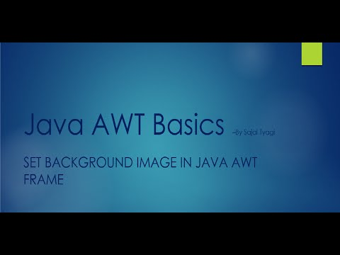 Set background image in Java AWT frame - YouTube