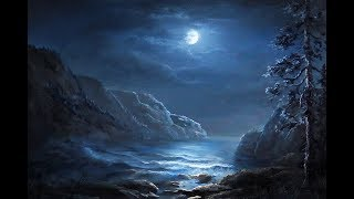 Moonlit Coastline | Paint with Kevin