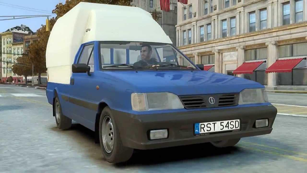 Daewoo-FSO Polonez Truck ST 2000 GTA IV - YouTube