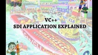 VC++ SDI APPLICATION EXPLAINED