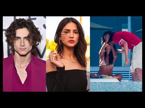 EIZA GONZALEZ Y TIMOTHEE CHALAMET SON CAPTADOS BESANDOSE! SON NOVIOS? BESO! 2020