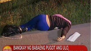 Bangkay ng babaeng pugot ang ulo, natagpuan malapit sa isang slaughter house sa Bulacan
