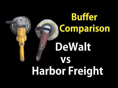 "Car Buffer / Polisher Comparison DIY DeWalt vs Harbor Freight 7"" 9"" Review"