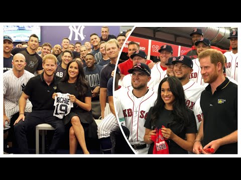 Meghan Joins Harry At London Series Baseball & Receive Baby Archie Gifts Red Sox & Yankees
