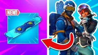 *NEW* SNOWBOARD In Fortnite Battle Royale (GAMEPLAY)