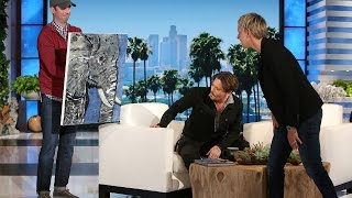 Johnny Depp's Beautiful Gift for Ellen