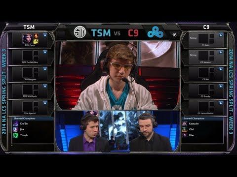 TSM vs Cloud 9 | 2014 NA LCS Spring split S4 W3D2 G4 | Cloud9 vs TSM full game HD | TSM vs C9