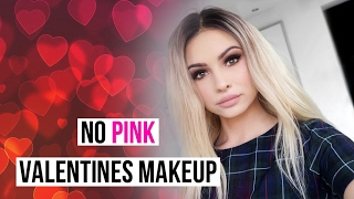 NO PINK EASY VALENTINES DAY MAKEUP TUTORIAL | Talia Mar
