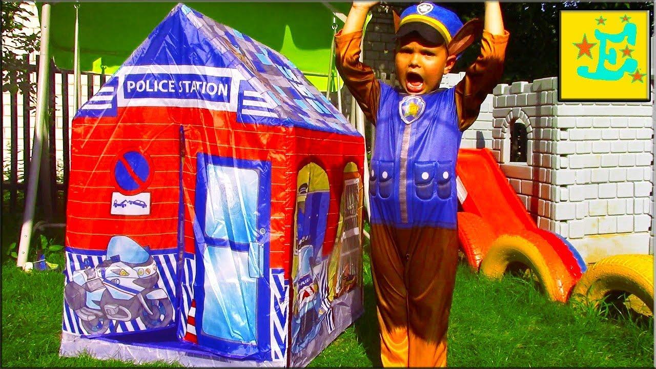 Егорка и Папа Играют!!!Детская Палатка ПОЛИЦИИ...!!!