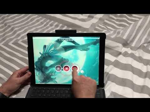 Demo of osu!Lazer port working on iOS : osugame