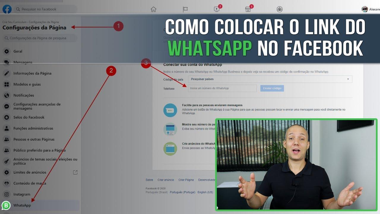 Como Colocar O Link Do Whatsapp No Facebook Youtube