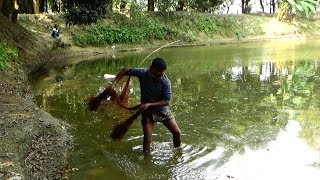 Net Fishing | Catching Fish With Cast Net | Net Fishing in the village (Part-149)