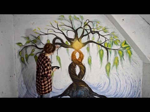 speed painting - wall art - YouTube