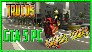 GTA V PC || LISTA COMPLETA DE TRUCOS / CÓDIGOS / CHEATS CODES || Invencible Vehículos Volar Etc..