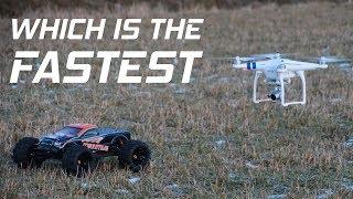 RC car vs drone | Speed Test