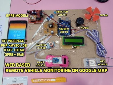 An WEB Based Remote Vehicle Monitoring System On Google Map