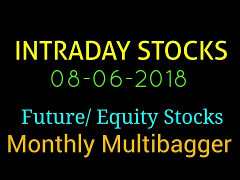 Day trading stocks 08-06-2018  Best stocks with huge potential for intraday