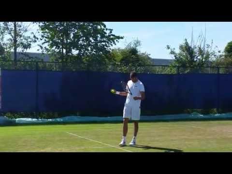Jiri Vesely practice session (short clip 2) 2015 Aegon Open Nottingham