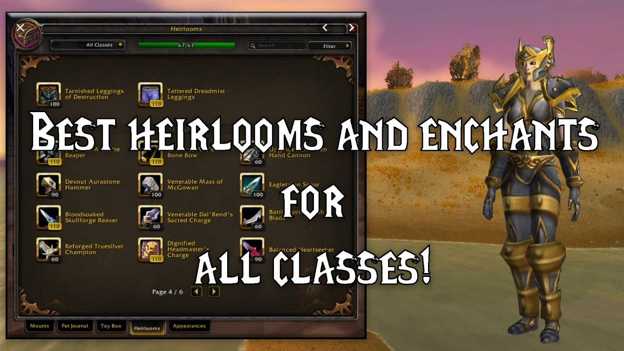 Wow Best Enchants And Heirlooms Shadowlands Ready Youtube