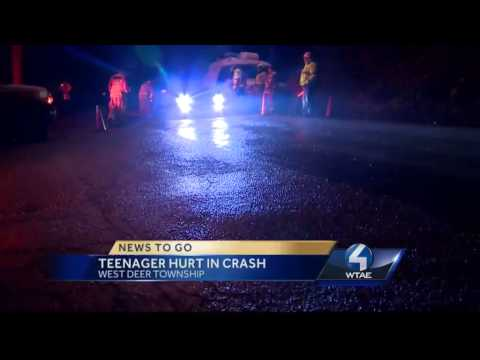 Teen ejected in West Deer Township crash
