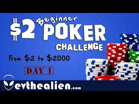 $2 Microstakes Poker Challenge - Day 1 - Grinding $2 into $2000 - Crushing NL2 Strategy & Hands