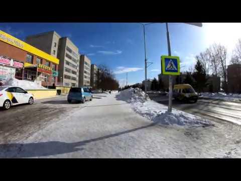 [4K] Berdsk - Winter Walking Lenina Street - Russia / Бердск