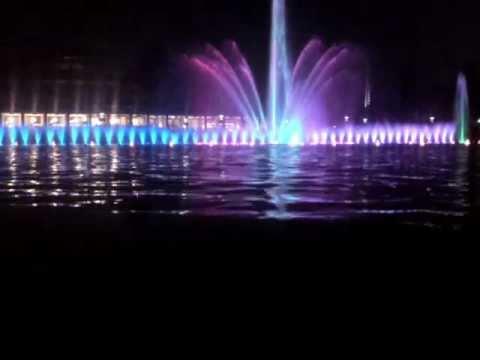 Pergola Wrocławska (fontanna) - pokaz 2011 (Wrocław Multimedia Fountain)