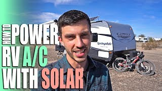 How to Power an RV Air Conditioner with Solar - Full Time RV Living