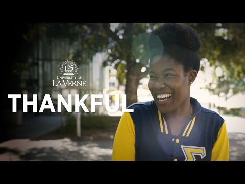 """Thankful"" - University of La Verne"