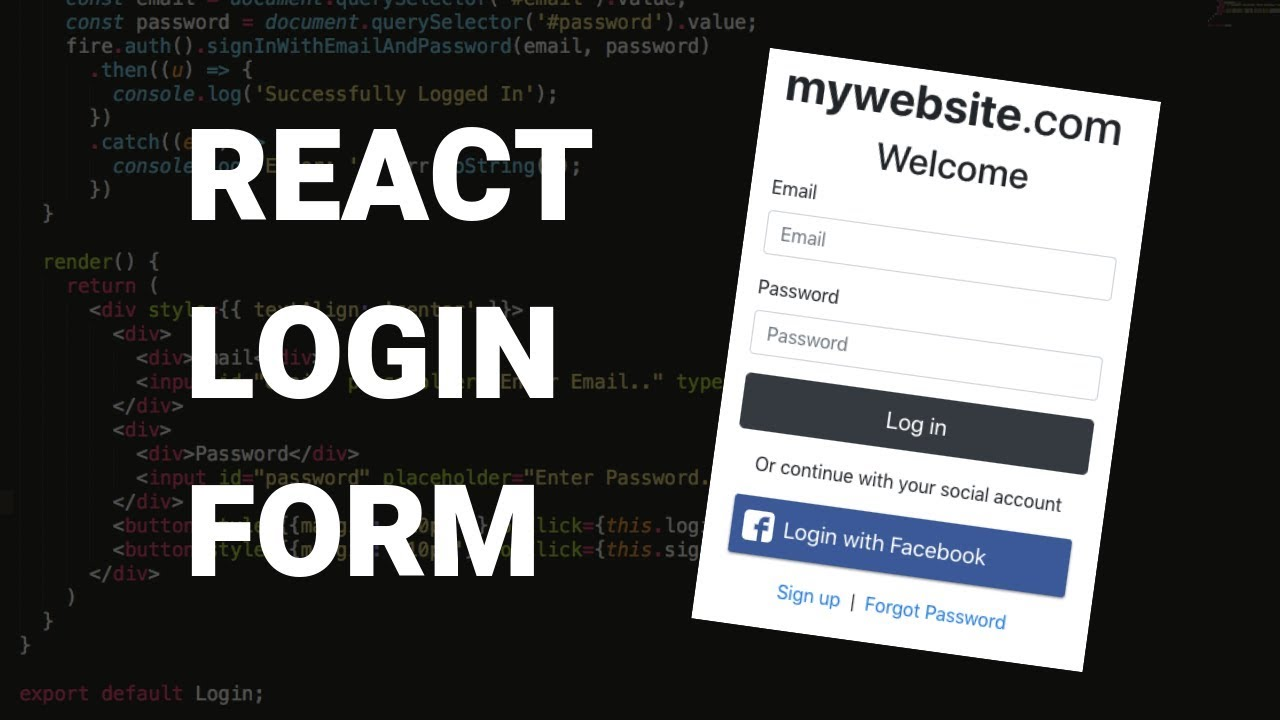 React Login Form with Bootstrap Style | reactstrap tutorial
