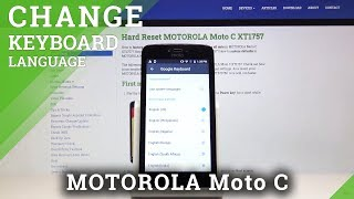 How to Change Keyboard Language in MOTOROLA Moto C