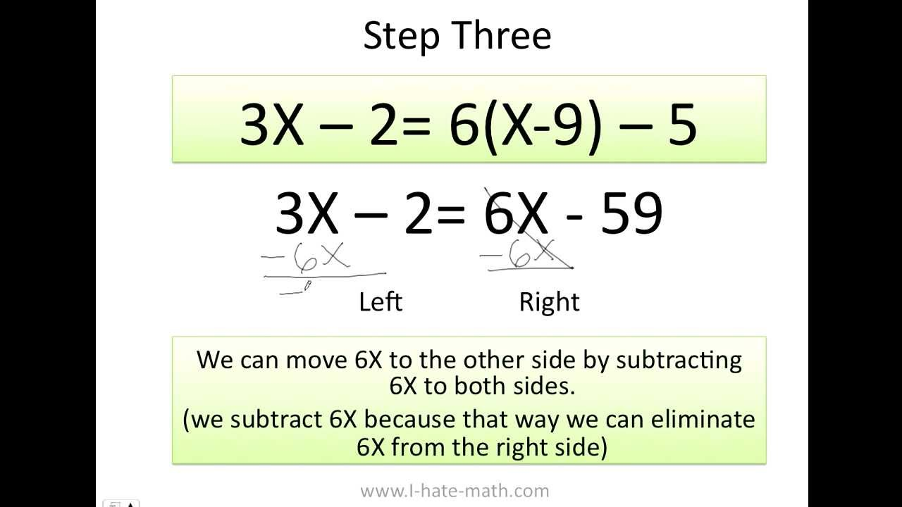 how to solve equations - YouTube