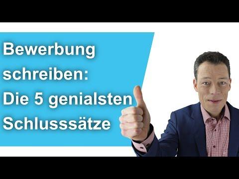 Bewerbung schreiben: Die 5 genialsten Schlusssätze (Anschreiben Bewerbung, Beispiel, Muster)/ Wehrle