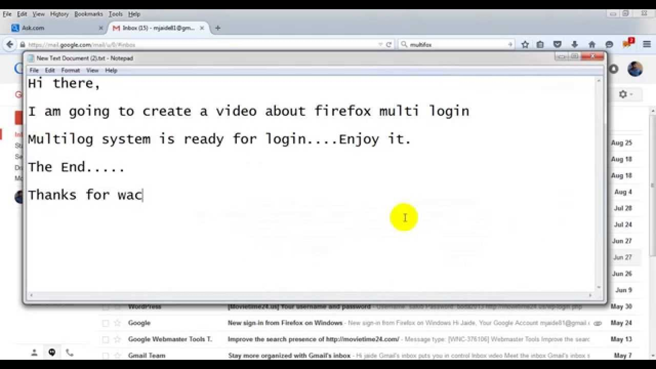 How to login into firefox with multi account