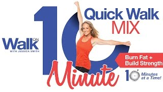 """Fit in Fitness 10 minutes at a time with our NEW """"10 Minute Quick Walk Mix"""" DVD with Jessica Smith"""