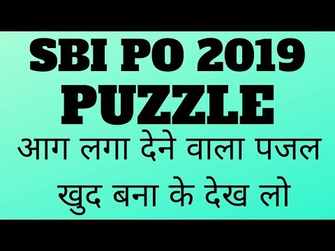 NEW PATTERN BLOOD RELATION PUZZLE FOR SBI PO 2019