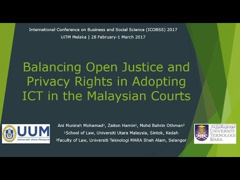 Balancing open justice and privacy rights at the Malaysian Courts