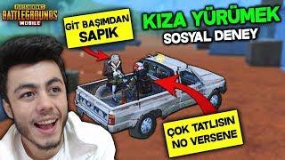 TAKIMDAKİ KIZA YÜRÜMEK  (SOSYAL DENEY) - PUBG Mobile