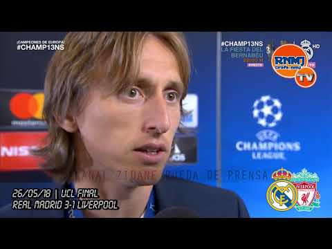 REAL MADRID 3-1 LIVERPOOL reacción LUKA MODRIC | FINAL CHAMPIONS 2018 (26/05/2018)