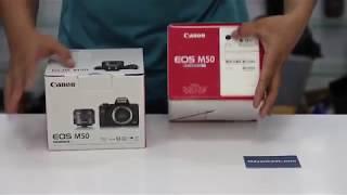 Mở hộp Canon M50 đầu tiên tại Mayanh24h - Giá rất tốt - kèm Quà Giá Trị