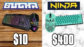 BROKE vs PRO Fortnite Setup! - Bugha Five Below Mouse & Keyboard!
