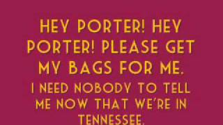 [On Screen Lyrics] Johnny Cash - Hey Porter