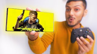 Download Running Cyberpunk 2077 on SmartPhone at Max Settings !