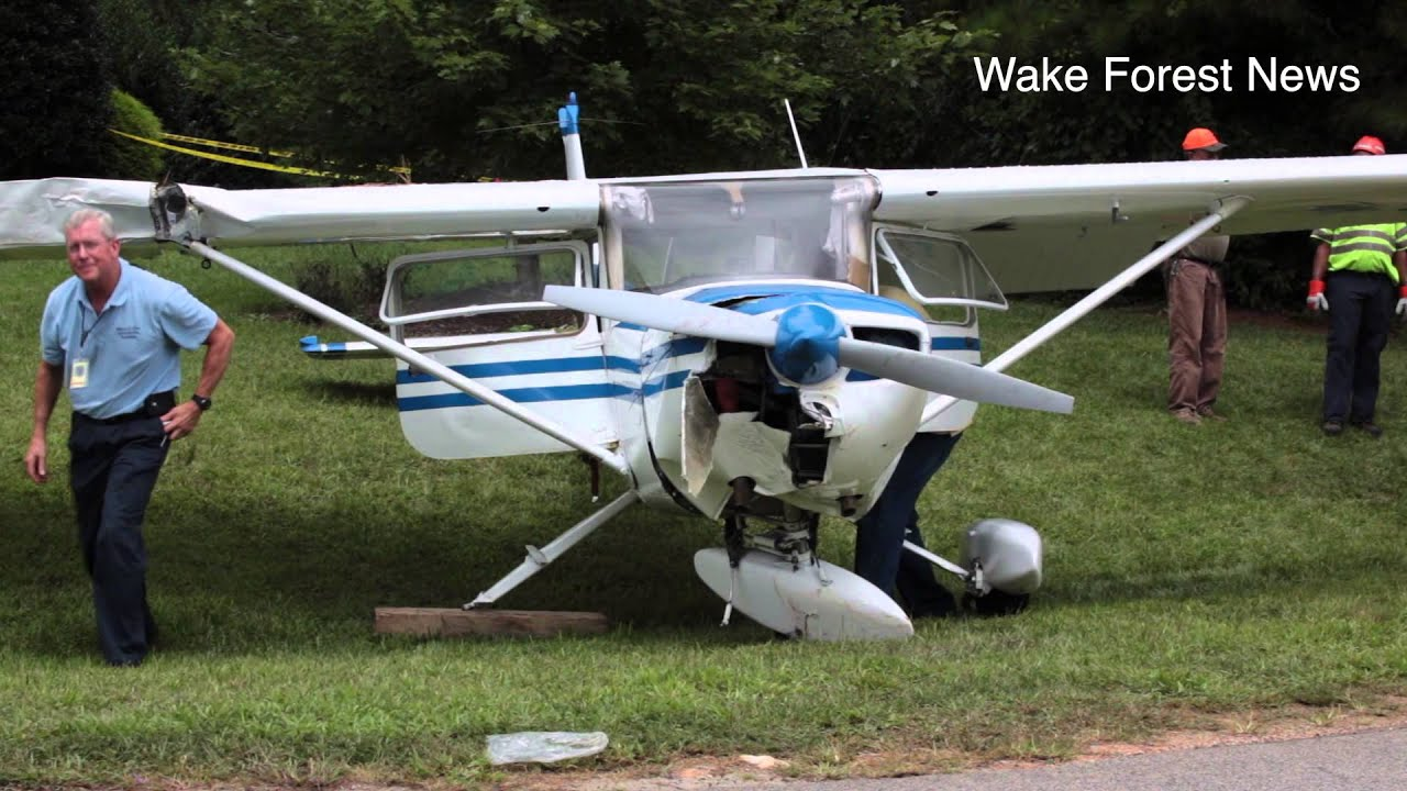 Cessna 150 Plane Crash Wake Forest Nc Youtube